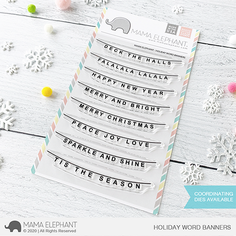 Mama Elephant - Holiday Word Banners