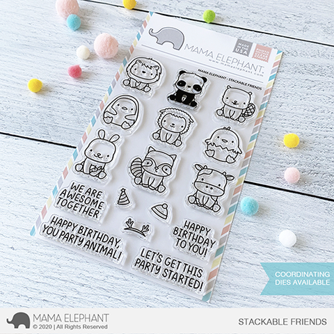 Mama Elephant - Stackable Friends