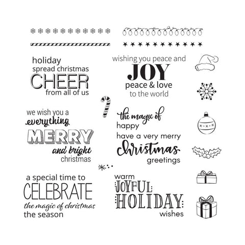 Fun Stampers Journey - Holiday Sentiment Stacks Clear Stamps