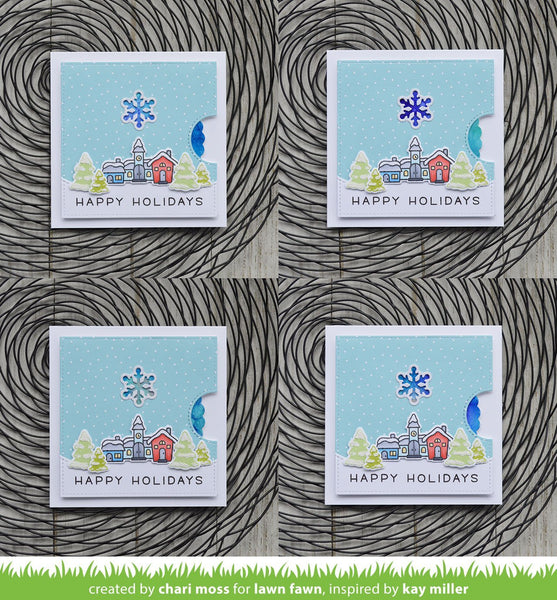 Lawn Fawn - reveal wheel snowflake add-on