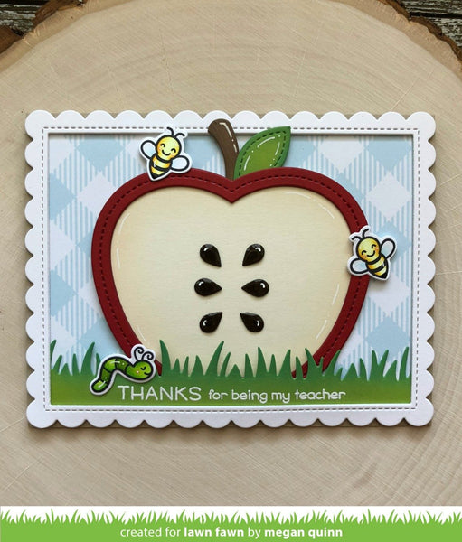 Lawn Fawn - stitched apple frames