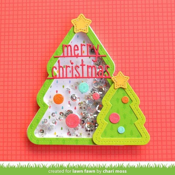 Lawn Fawn - merry christmas line border