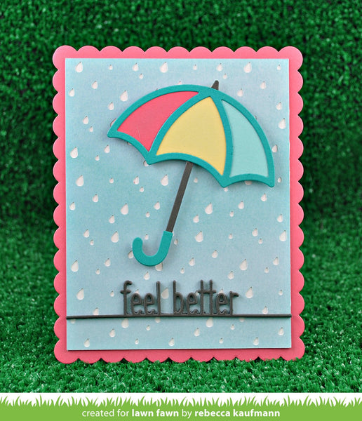 Lawn Fawn - Feel Better Line Border