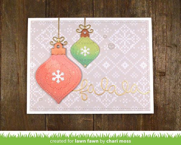 Lawn Fawn - stitched ornaments