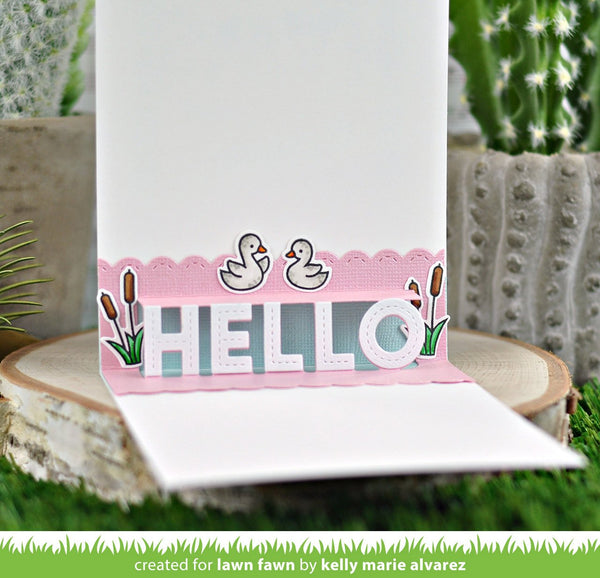 Lawn Fawn - Pop-Up Hello