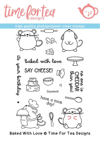 Time for Tea Designs - Baked With Love Clear Stamp Set