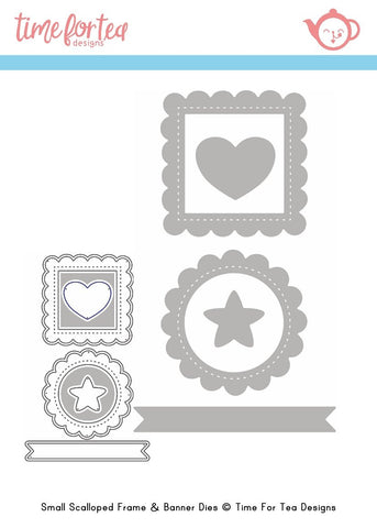 Time For Tea Designs - Mini Frame & Banner Dies