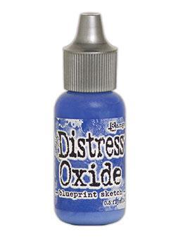 Tim Holtz Distress® Oxide® Re-Inker Blueprint Sketch, 0.5oz Re-Inker Tim Holtz