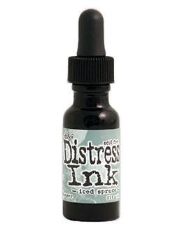 Tim Holtz Distress® Ink Pad Re-Inker Iced Spruce, 0.5oz Re-Inker Tim Holtz