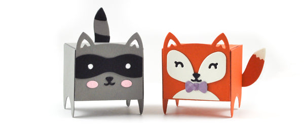 Lawn Fawn - tiny gift box raccoon and fox add-on