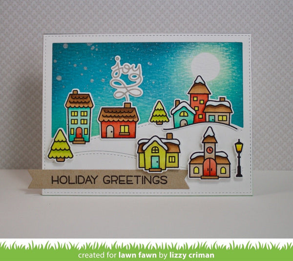 Lawn Fawn - winter village