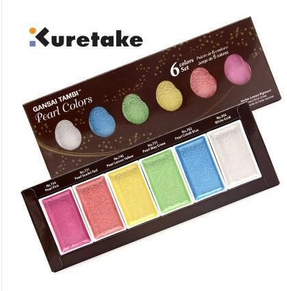 Kuretake - Gansai Tambi Pearl Colors Set 6 colors