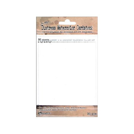 "Tim Holtz - Distress® Watercolor Cardstock 4.25"" x 5.5"" 20st"