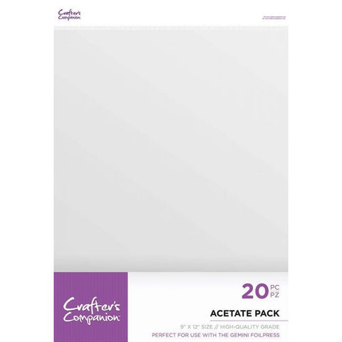 Crafter's Companion - Acetate Pack 9x12""