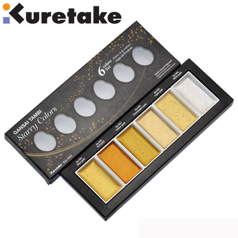 Kuretake - Gansai Tambi Starry Colors Set 6 colors