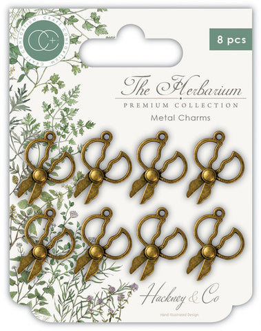 Craft Consortium - The Herbarium Herb Scissors Metal Charms