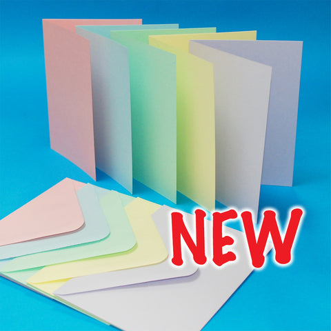 Craft UK Limited -  Cards & Envelopes Assorted Pastel 5x7 Inch