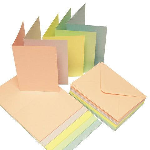 Craft UK Limited - Cards & Envelopes C6 Pastel