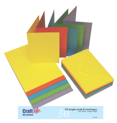 Craft UK Limited - Cards & Envelops C6 Bright