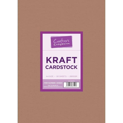 Crafter's Companion - Kraft Cardstock A4