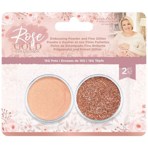 Crafter's Companion - Rose Gold Embossing Powder and Fine Glitter