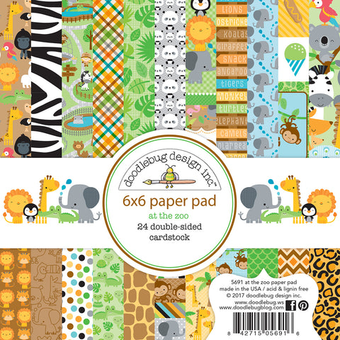 Doodlebug Design - At the Zoo 6x6 Inch Paper Pad