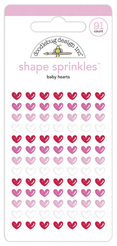 Doodlebug Design - Baby Hearts Shape Sprinkles (91pcs)