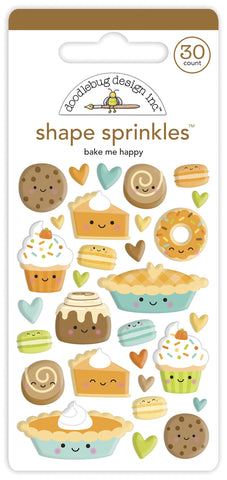 Doodlebug Design - Bake Me Happy Shape Sprinkles (30pcs)