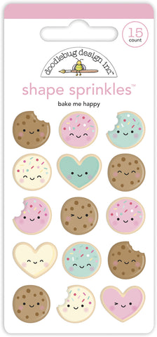 Doodlebug Design - Bake Me Happy Shape Sprinkles (15pcs)
