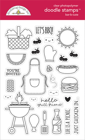 Doodlebug Design - Bar-b-cute Doodle Stamps