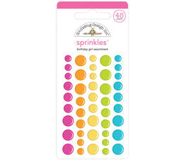 Doodlebug Design - Birthday Girl Assortment Sprinkles (45pcs)