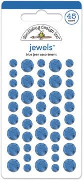 Doodlebug Design - Blue Jean Jewels (45pcs)