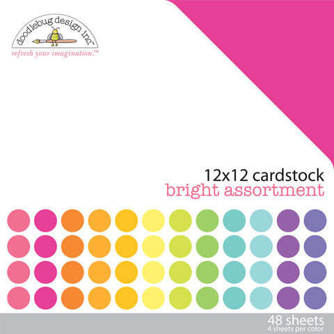 Doodlebug Design - Bright 12x12 Inch Textured Cardstock Pack