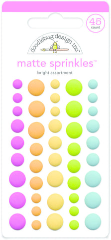 Doodlebug Design - Bright Assortment Matte Sprinkles