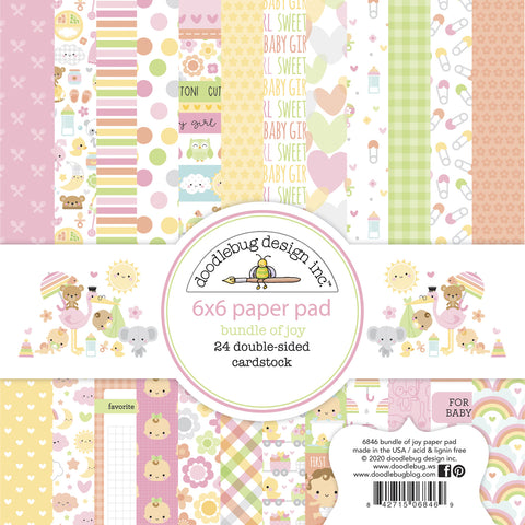 Doodlebug Design - Bundle of Joy 6x6 Inch Paper Pad