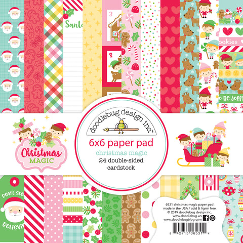 Doodlebug Design - Christmas Magic 6x6 Inch Paper Pad