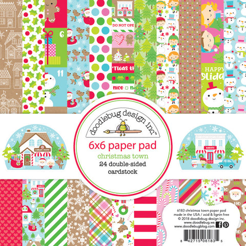 Doodlebug Design - Christmas Town 6x6 Inch Paper Pad