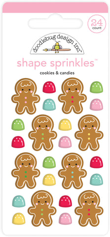 Doodlebug Design - Cookies & Candies Shape Sprinkles (24pcs)