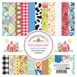 Doodlebug Design - Down on the Farm 6x6 Inch Paper Pad