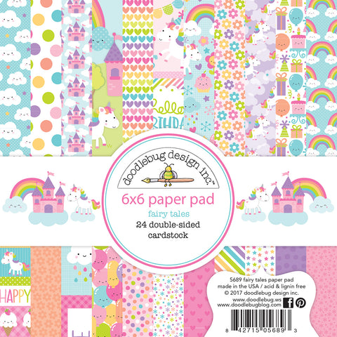 Doodlebug Design - Fairy Tales 6x6 Inch Paper Pad