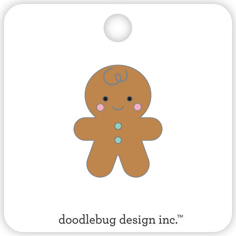 Doodlebug Design - Gingerbread Man Collectible Pin
