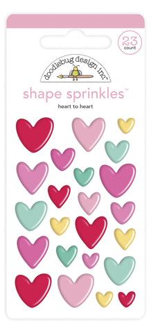 Doodlebug Design - Heart to Heart Shape Sprinkles (23pcs)