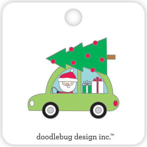 Doodlebug Design - Here Comes Santa Collectible Pin