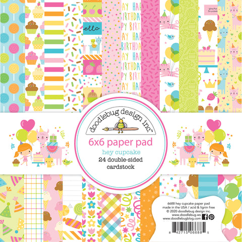 Doodlebug Design - Hey Cupcake 6x6 Inch Paper Pad