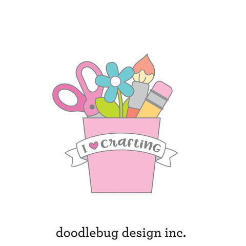 Doodlebug Design - I Heart Scrapbooking Collectible Pin