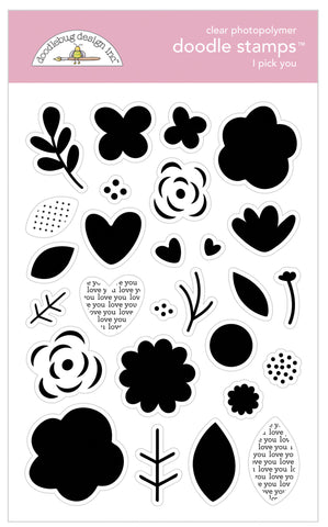 Doodlebug Design - I Pick You Doodle Stamps