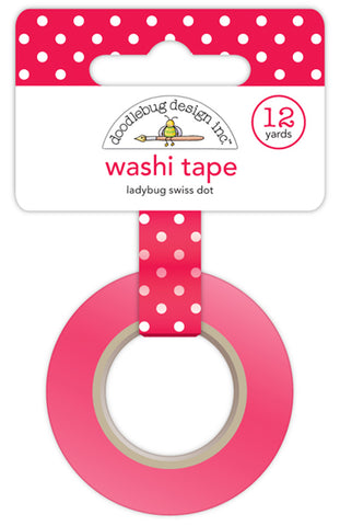 Doodlebug Design - Ladybug Swiss Dot Washi Tape