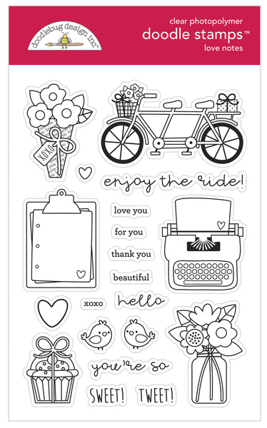 Doodlebug Design - Love Notes Doodle Stamps