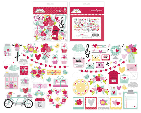 Doodlebug Design - Love Notes Odds & Ends (77pcs)