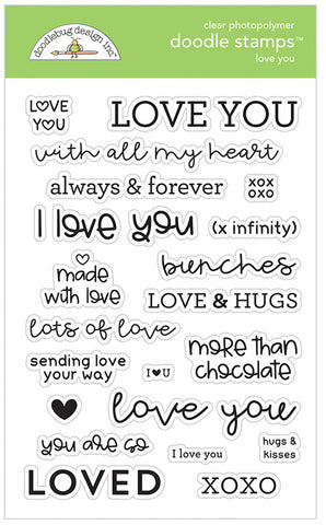 Doodlebug Design - Love You Doodle Stamps